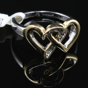 Jewellery ring, Silver plated, 1.8cm, 1  piece, (JR72)